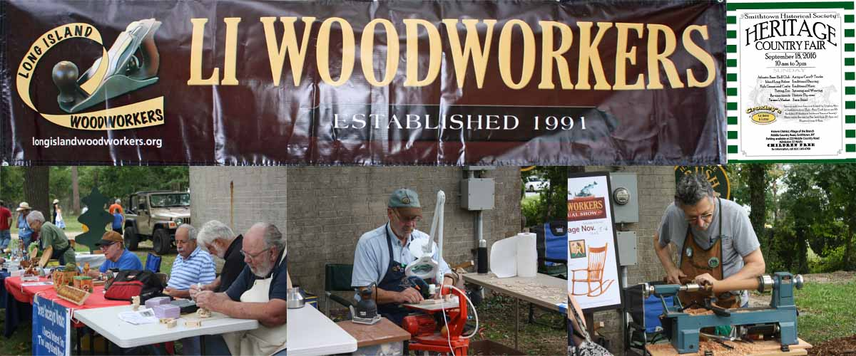 Woodworking demonstrations at the Smithtown Heritage Fair