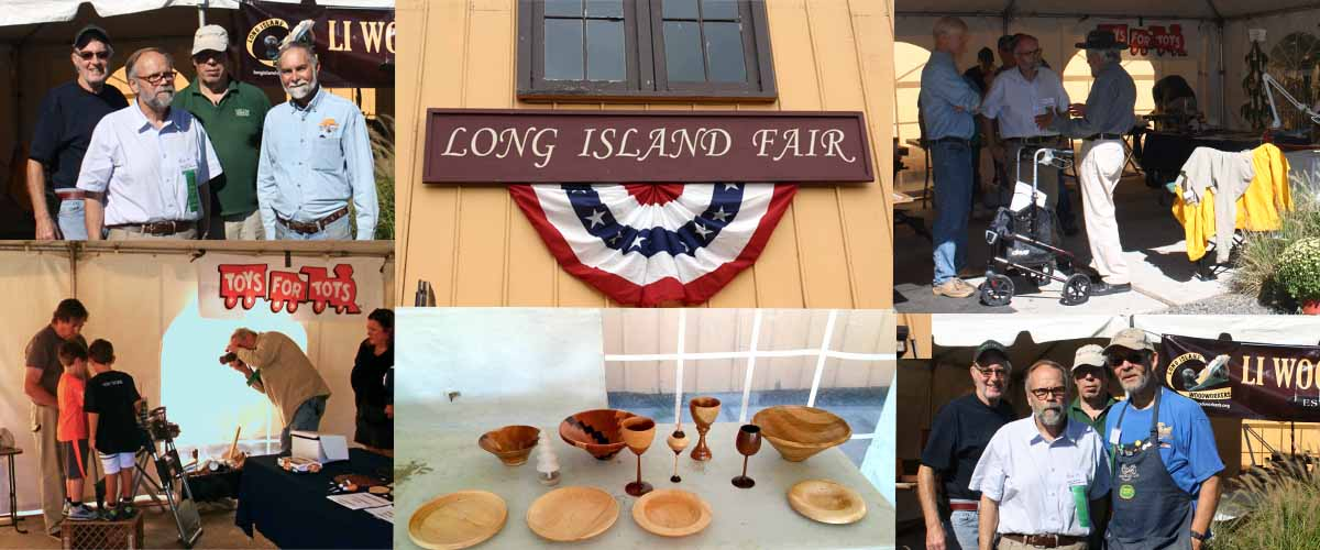 The LI Woodworkers presented demonstrations at the Long Island Fair