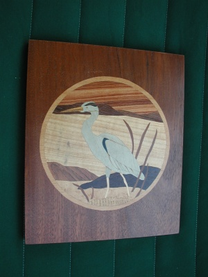 Marquetry - Heron