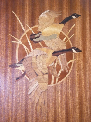 Marquetry - Geese