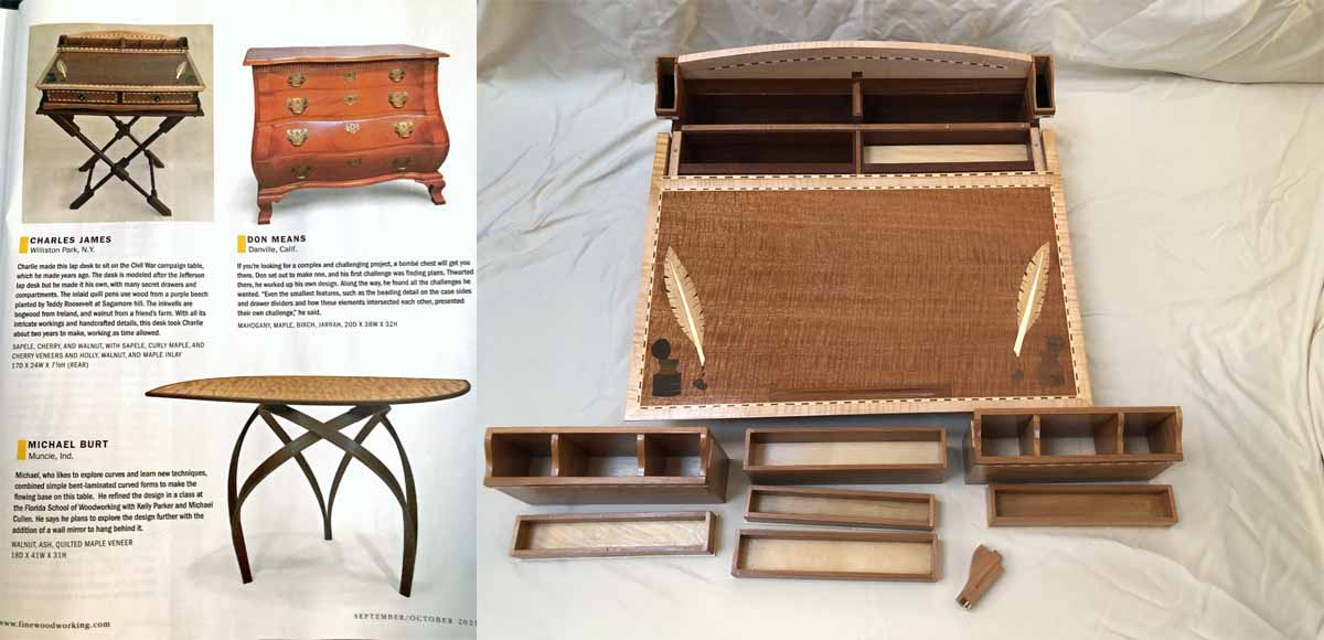 Charlie James is in the October Issue of Fine Woodworking Magazine