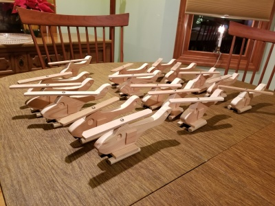Toys4Tots helicopters