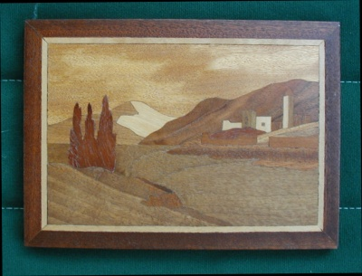 Marquetry - Swiss Lake