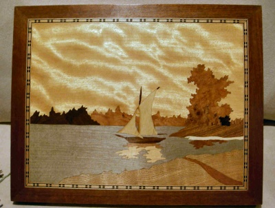 Marquetry - Sail Boat