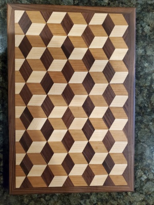 3D board walnut border